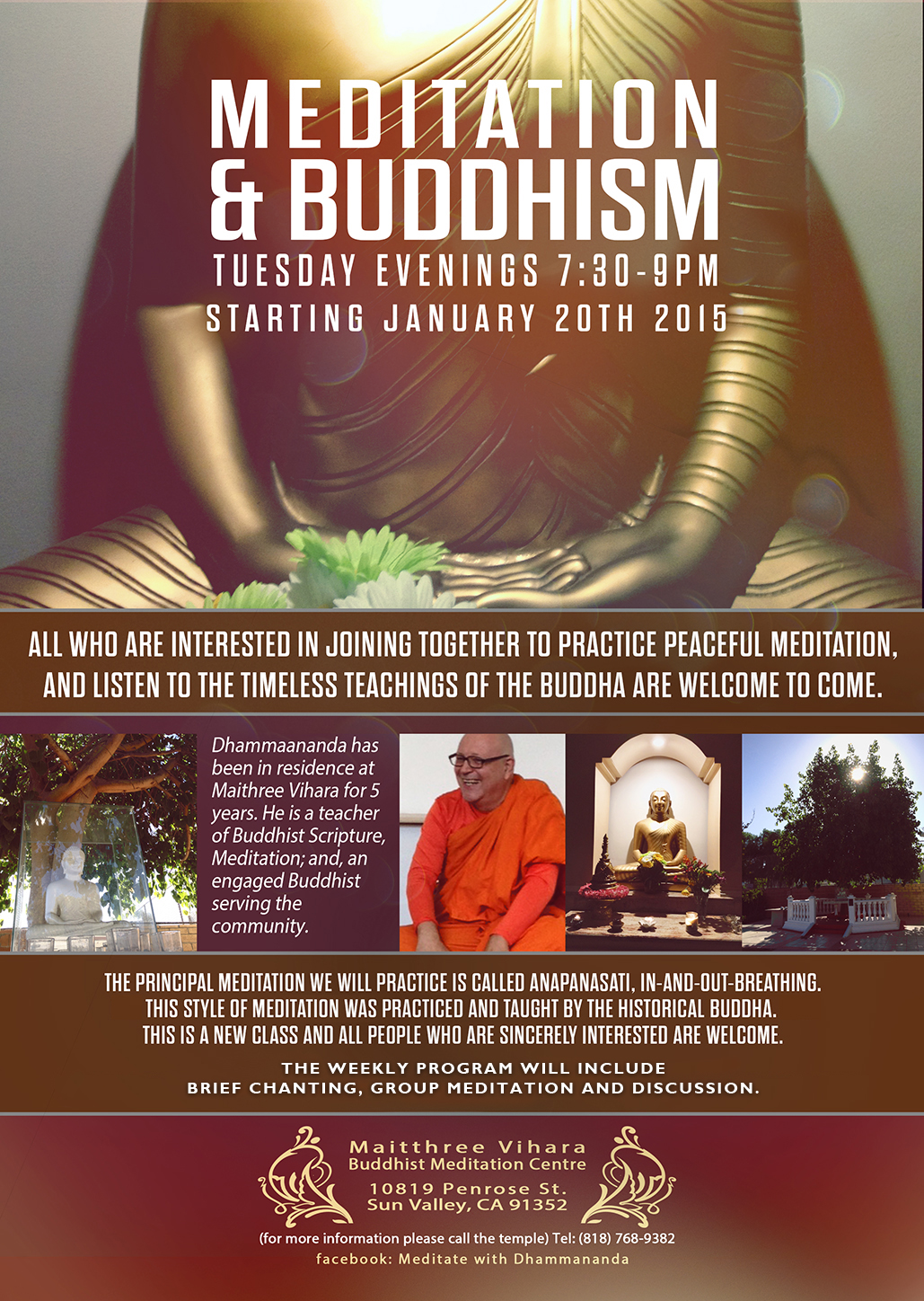 Maithree Vihara Buddhist Meditation Center – Meditation Group Tuesdays